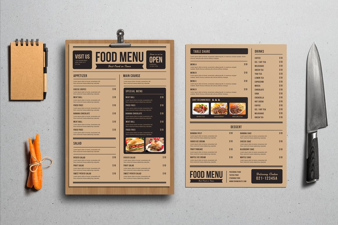 Restaurant Menu Printing in South West London