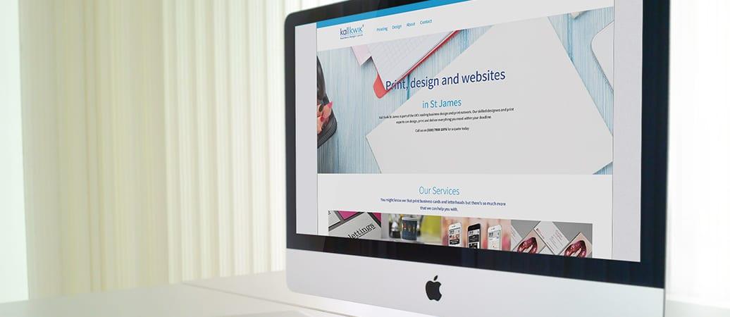 Kall Kwik St James's new website goes live