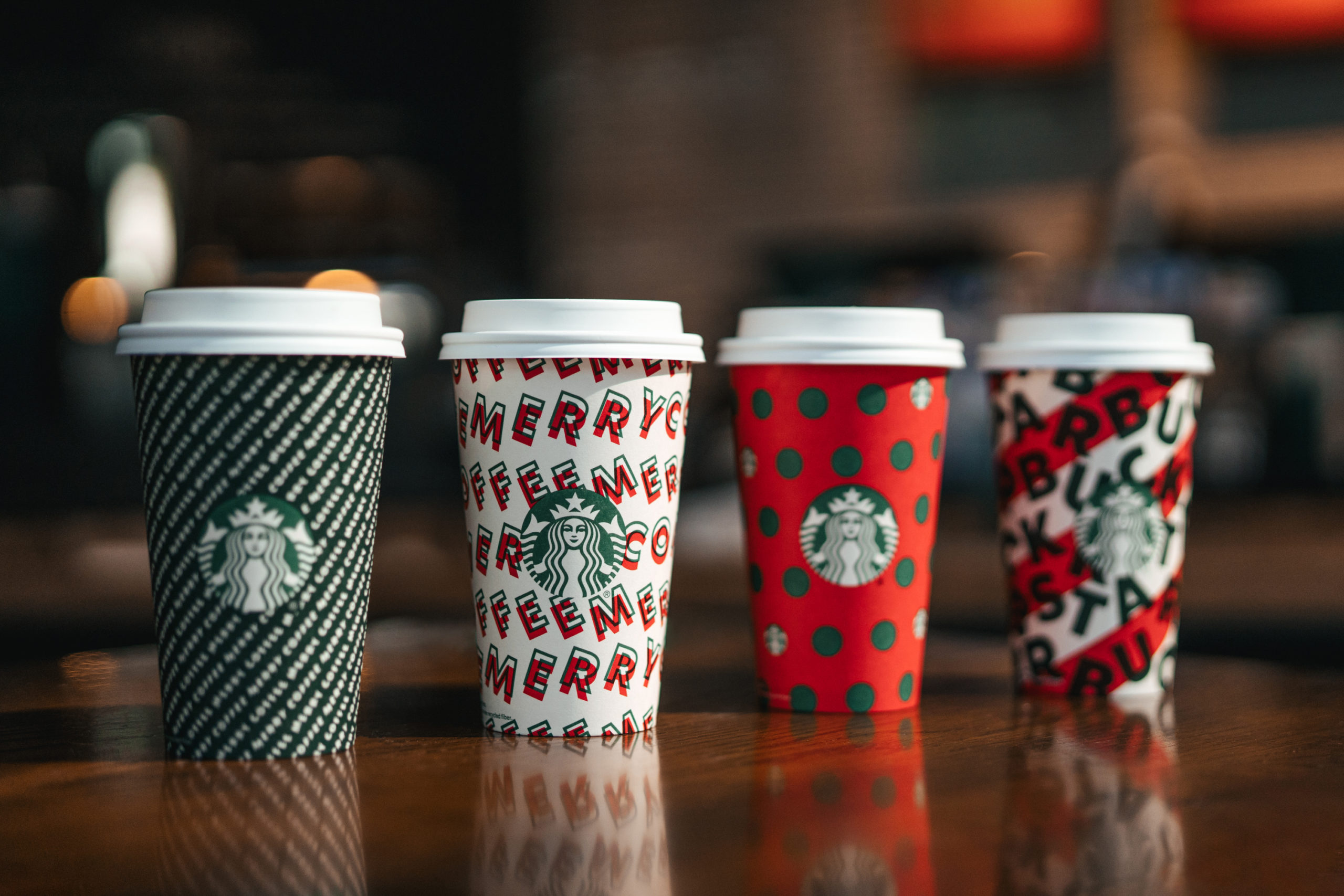 Starbucks Christmas branded coffee cups 2019