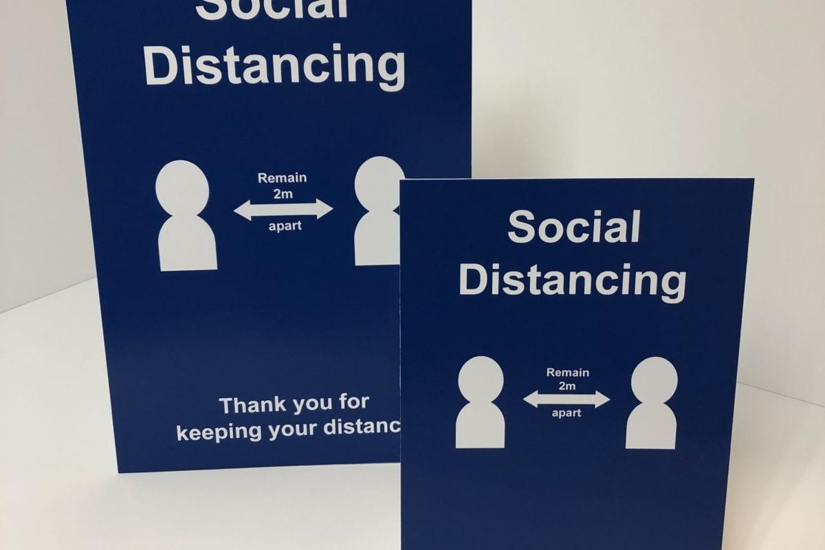 Indoor Social Distancing Signage