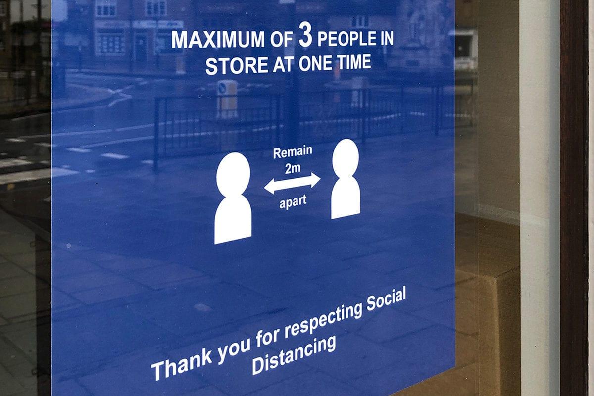 Social Distancing Window Graphics